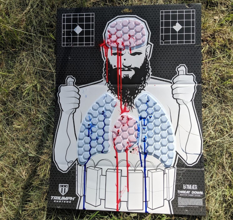 triumph reactive target bleeding terrorist paint